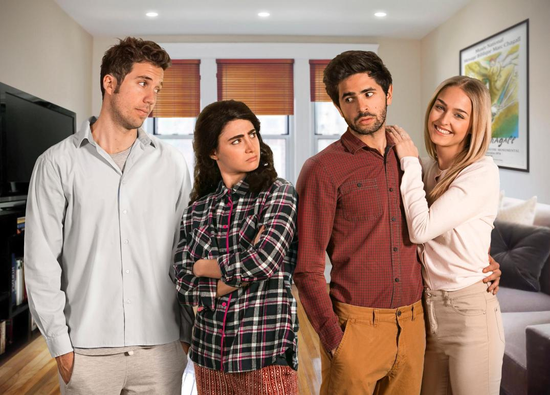 caption l-r- The cast of Bad Jews- Oliver Booth, Lara Lipschitz, Glen Biderman-Pam and Donna Cormack-Thomson.jpg