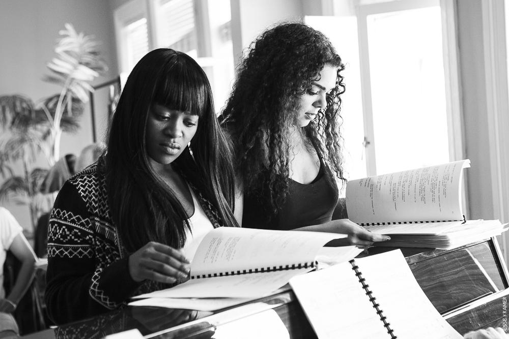 Edith Plaaitjies and Bianca Flanders in rehearsal .jpg