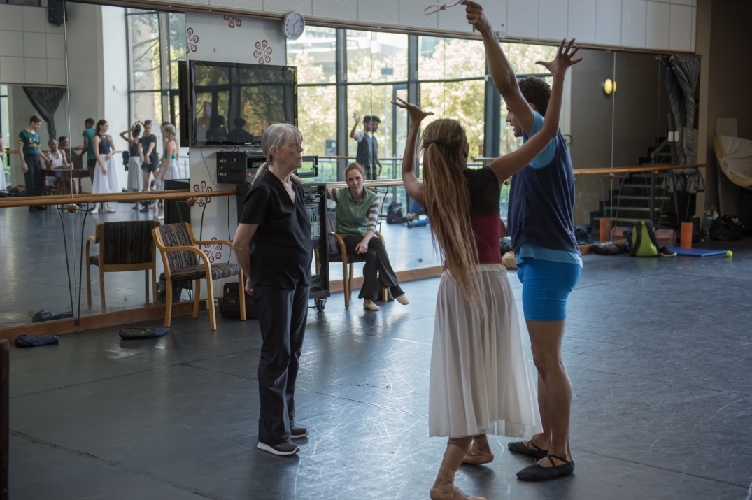 Choreographer Veronica Paeper rehearses Carmen with Monike Cristina & Revil Yon_Photo Lauge Sorensen.jpg